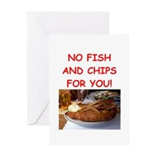 FISH CHIPS Greeting Cards