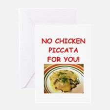 chicken piccata Greeting Cards