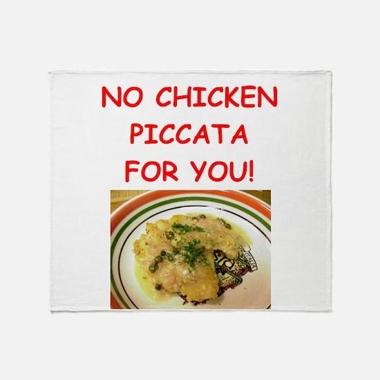 chicken piccata Throw Blanket