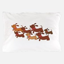 Running Weiner Dogs.png Pillow Case