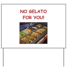 gelato Yard Sign