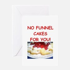 funnel cakes Greeting Cards