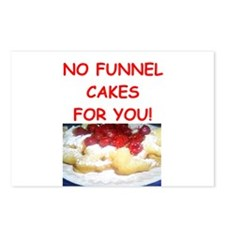 funnel cakes Postcards (Package of 8)