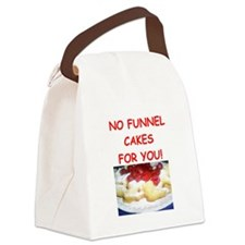 funnel cakes Canvas Lunch Bag