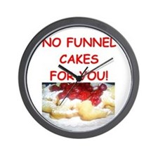 funnel cakes Wall Clock