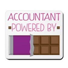 Accountant powered by chocolate Mousepad