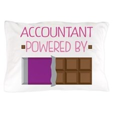 Accountant powered by chocolate Pillow Case