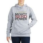 Mighty Nerd Power Women's Hooded Sweatshirt