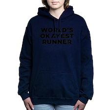 Worlds Okayest Runner - Black Print Women's Hooded