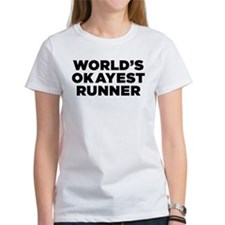 Worlds Okayest Runner - Black Print T-Shirt
