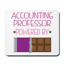 Accounting professor powered by chocolat Mousepad