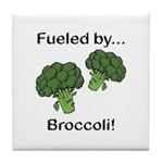 Fueled by Broccoli Tile Coaster