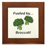 Fueled by Broccoli Framed Tile