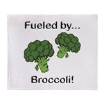 Fueled by Broccoli Throw Blanket