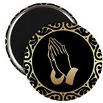 Gold Praying Hands Magnets