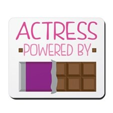 Actress powered by chocolate Mousepad