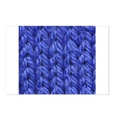 Knitting - Blue Knit Fabric Postcards (Package of