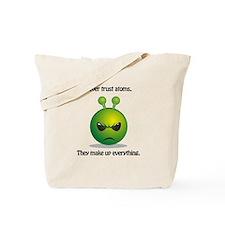 Punny Alien Atoms Tote Bag