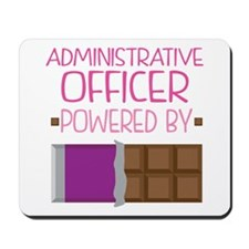 Administrative officer powered by chocol Mousepad