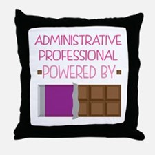 Administrative professional powered b Throw Pillow