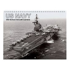Old School Aircraft Carriers Wall Calendar