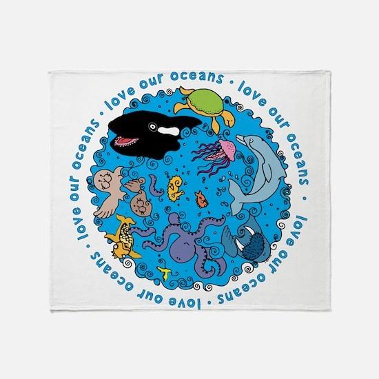LUVROCEANS.png Throw Blanket