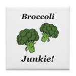 Broccoli Junkie Tile Coaster