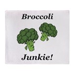 Broccoli Junkie Throw Blanket