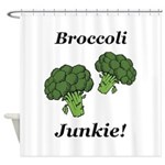 Broccoli Junkie Shower Curtain