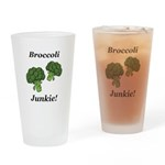 Broccoli Junkie Drinking Glass