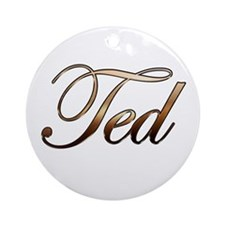 Ted Ornament (Round)