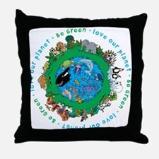 BEGREENLUV.png Throw Pillow