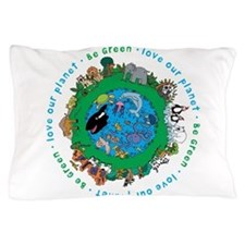 BEGREENLUV.png Pillow Case