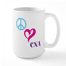 Peace Love CNA Mugs