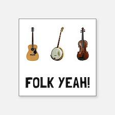 """Cute Folk music Square Sticker 3"""" x 3"""""""
