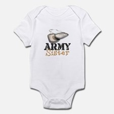 """Army Sister (Dogtags)"" Infant Bodysuit"
