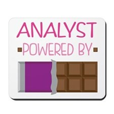 Analyst powered by chocolate Mousepad