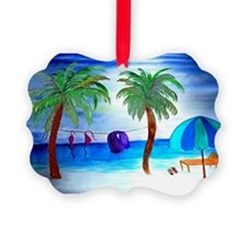 Bikini Beach Art Ornament