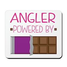 Angler powered by chocolate Mousepad