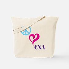 Peace Love CNA Tote Bag