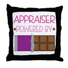 Appraiser powered by chocolate Throw Pillow