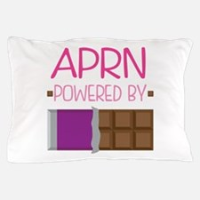 Cute APRN powered by chocolate design. Pillow Case
