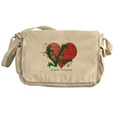 Vegan Heart Messenger Bag