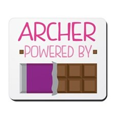 Archer powered by chocolate Mousepad