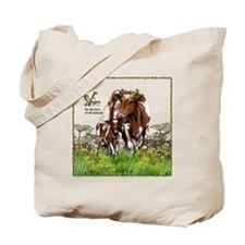 Vegan Cow And Calf Tote Bag