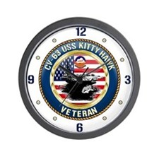 CV-63 USS Kitty Hawk Wall Clock