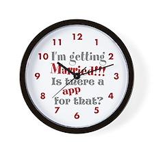 I'm Getting Married Wall Clock