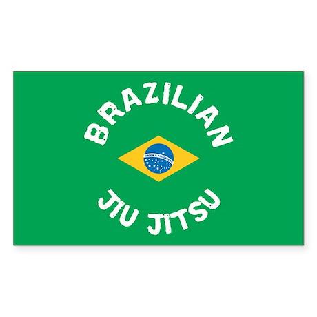 """BJJ"" Brazilian Jiu Jitsu Rectangle Sticker"