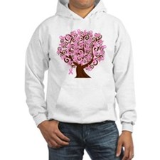 breast cancer pink ribbon tree Jumper Hoody