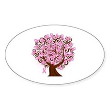 breast cancer pink ribbon tree Decal